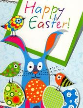Pack of 6 Happy Easter Mini Greeting Cards