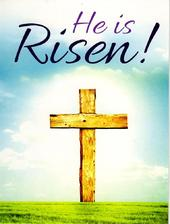 Pack of 6 He Is Risen Easter Mini Greeting Cards