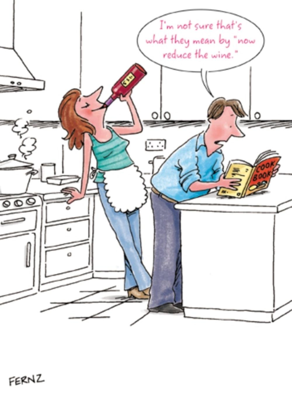 Fernz Funny Reduce The Wine Mother's Day Humour Greeting Card