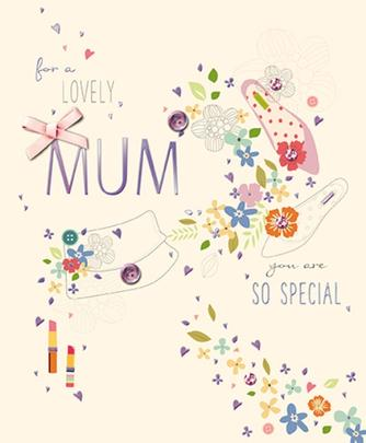 For A Lovely Mum Happy Mother's Day Greeting Card