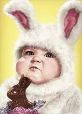 Avanti Funny Chocolate Bunny Happy Easter Photo Greeting Card