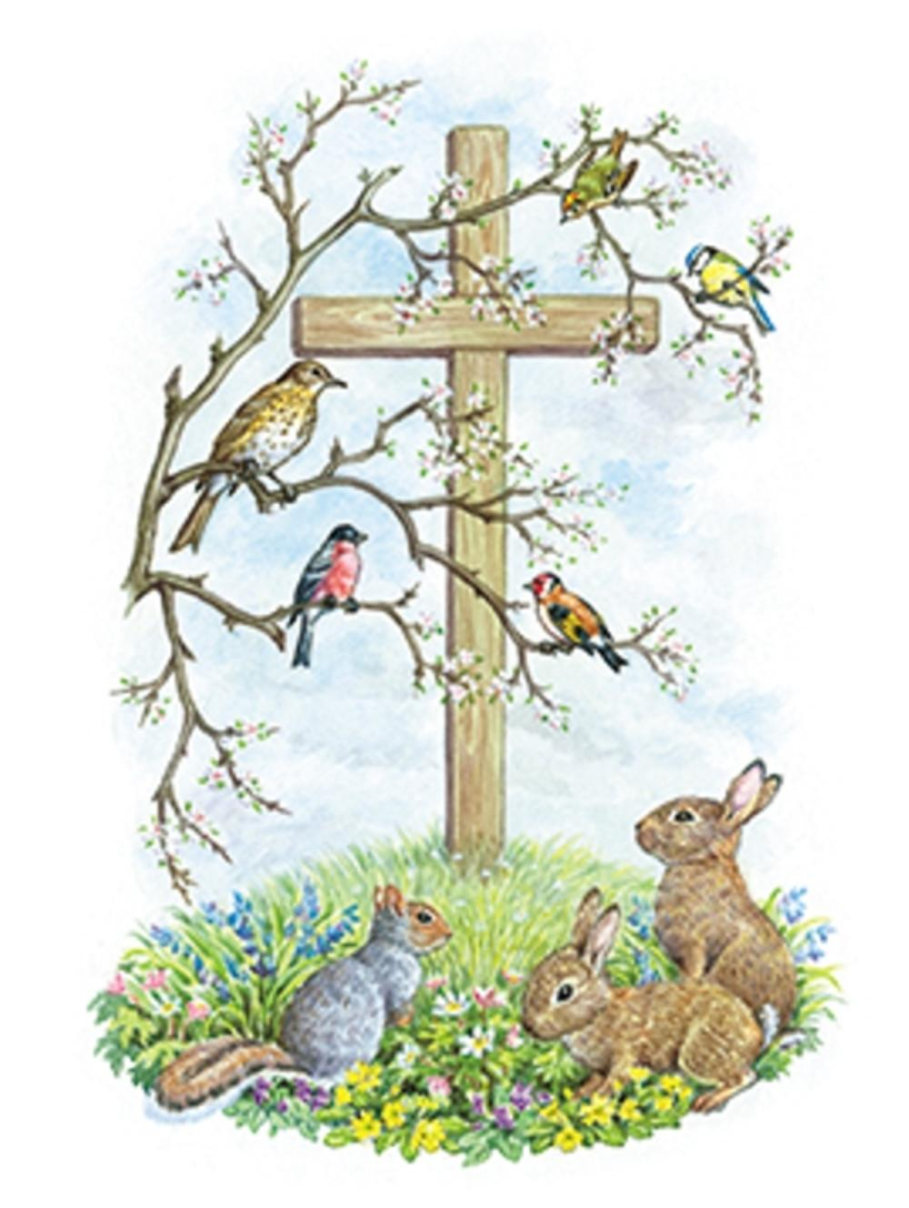 Pack of 4 Religious Mini Medici Happy Easter Greeting Cards