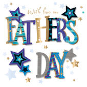 On Father's Day With Love Greeting Card
