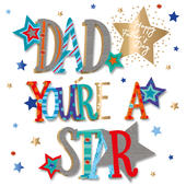 Dad You're A Star Father's Day Greeting Card