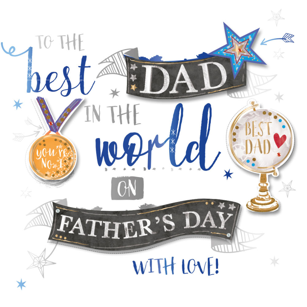 Best Dad In World Father's Day Greeting Card