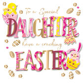 Special Daughter Easter Greeting Card