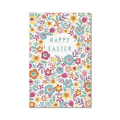 Pack of 5 Flowers Happy Easter Greeting Cards
