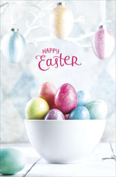 Pack of 5 Happy Easter Eggs Design Greeting Cards