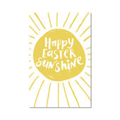 Pack of 5 Happy Easter Sunshine Greeting Cards