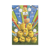 Pack of 5 Fun Chicks Happy Easter Greeting Cards