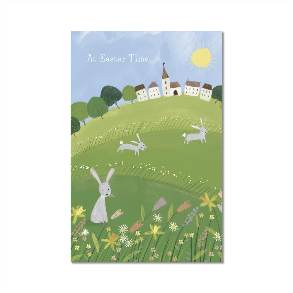 Pack of 5 At Easter Time Greeting Cards