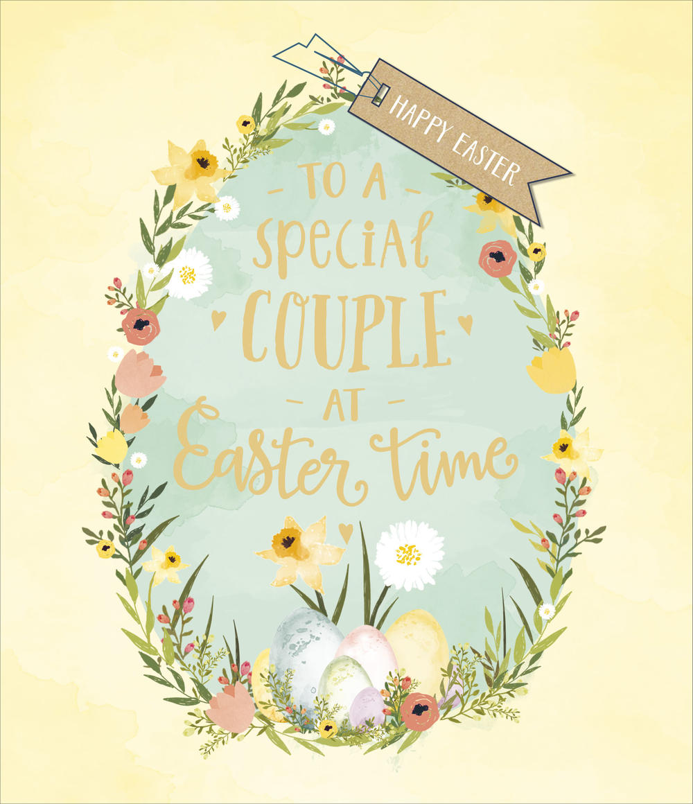 To A Special Couple Embellished Easter Greeting Card
