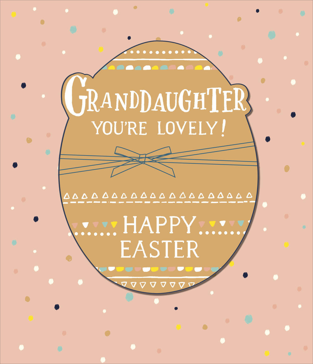 Granddaughter Embellished Happy Easter Greeting Card