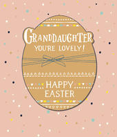 Granddaughter Embellished Happy Easter Greeting Card