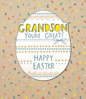 Grandson Embellished Happy Easter Greeting Card