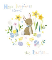 Hope Happiness Blooms Embellished Button Box Easter Greeting Card