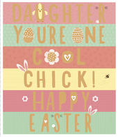 Daughter One Cool Chick Embellished Happy Easter Greeting Card