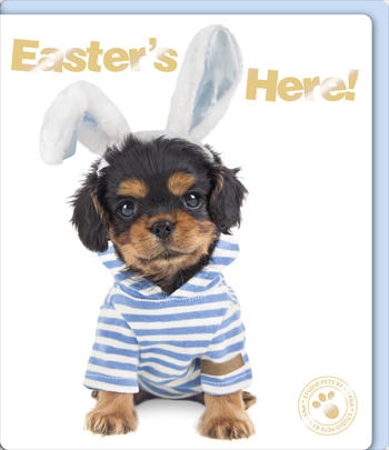 Easter's Here Boy's Cute Puppy Dog Happy Easter Greeting Card
