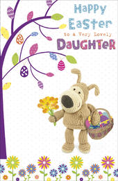 Boofle Lovely Daughter Easter Greeting Card
