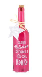 She Believed Starlight Bottle Glass Light Up Sentimental Message Bottles Gift