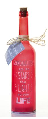 Granddaughter Starlight Bottle Glass Light Up Sentimental Message Bottles Gift