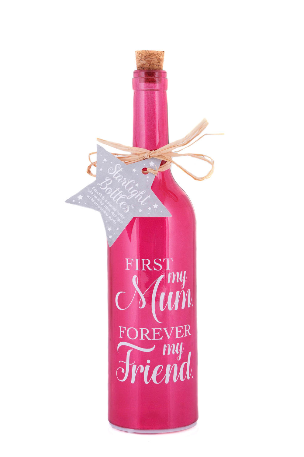 Mum My Friend Starlight Bottle Glass Light Up Sentimental Message Bottles Gift