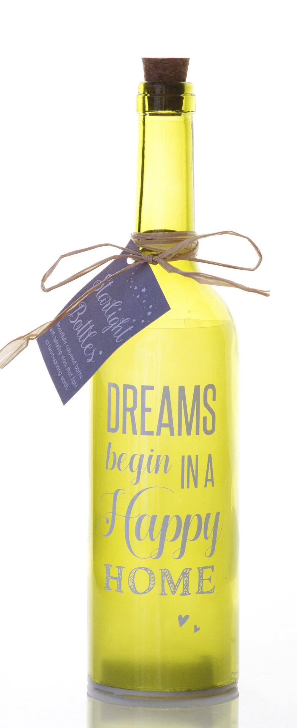 Happy Home Starlight Bottle Glass Light Up Sentimental Message Bottles Gift