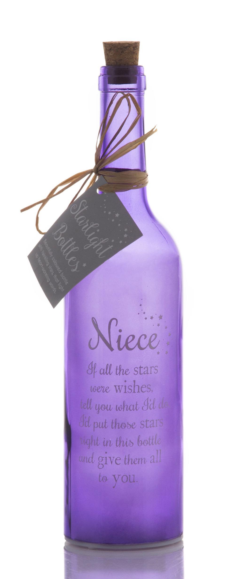 Niece Starlight Bottle Glass Light Up Sentimental Message Bottles Gift
