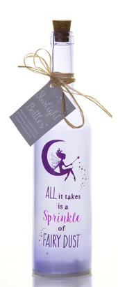 Fairy Dust Starlight Bottle Glass Light Up Sentimental Message Bottles Gift