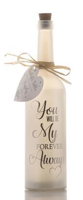 My Forever Always Starlight Bottle Glass Light Up Sentimental Message Bottles Gift