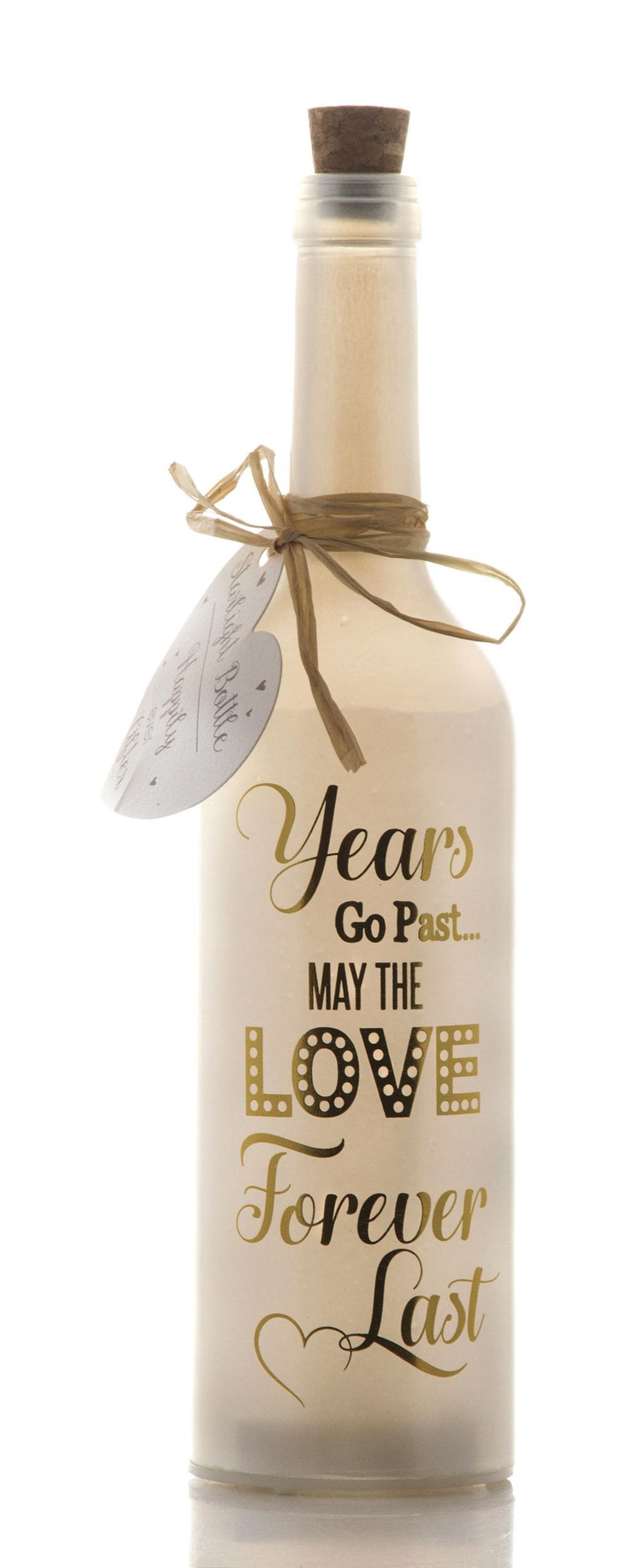 Anniversary Starlight Bottle Glass Light Up Sentimental Message Bottles Gift