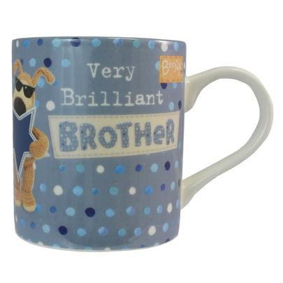 Boofle Very Brilliant Brother China Mug In Gift Box