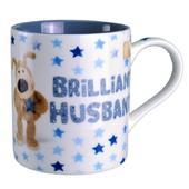 Boofle Brilliant Husband China Mug In Gift Box