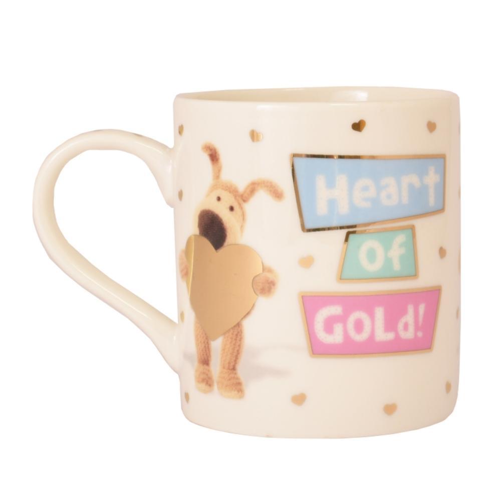 Boofle Heart Of Gold China Mug In Gift Box