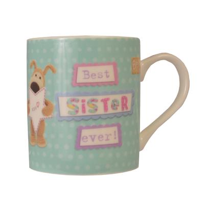 Boofle Best Sister Ever China Mug In Gift Box
