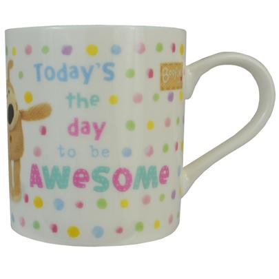 Boofle Today's The Day To Be Awesome China Mug In Gift Box