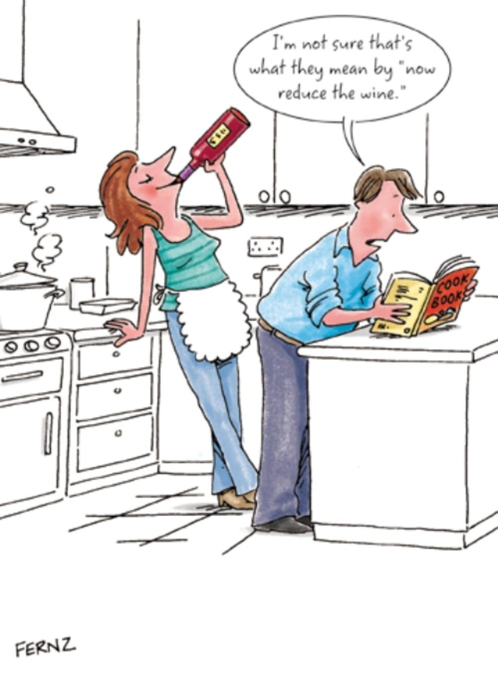 Now Reduce The Wine Funny Birthday Greeting Card | Cards