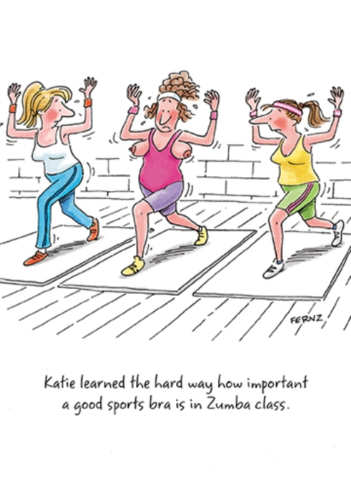 Sports Bra Zumba Class Funny Birthday Greeting Card Cards Love Kates