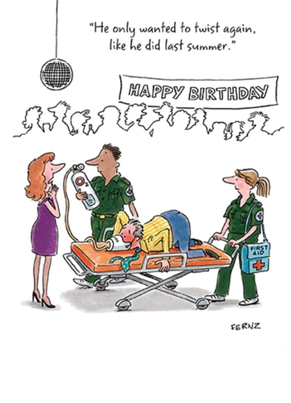 Twist Again Funny Birthday Greeting Card