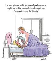 Changed Facebook Status Single Funny Birthday Greeting Card