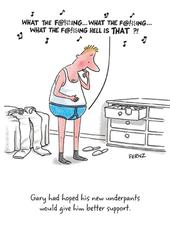 Gary's Underpants Funny Birthday Greeting Card