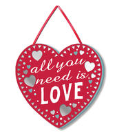 All You Need Is Love Hanging Plaque With Ribbon