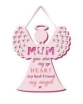 Mum, My Angel Hanging Plaque With Ribbon