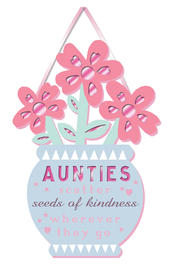 Aunties Kindness Auntie Hanging Plaque With Ribbon