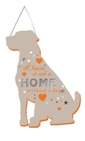 Dog House Not A Home Hanging Plaque With Ribbon