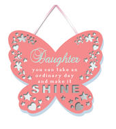 Daughter Make It Shine Hanging Plaque With Ribbon