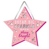 Dream Big Hanging Plaque With Ribbon