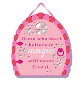 Believe In Magic Hanging Plaque With Ribbon