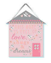 Home Full Of Love Hanging Plaque With Ribbon