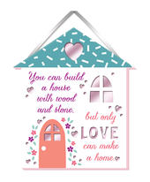 Love Makes A Home Hanging Plaque With Ribbon